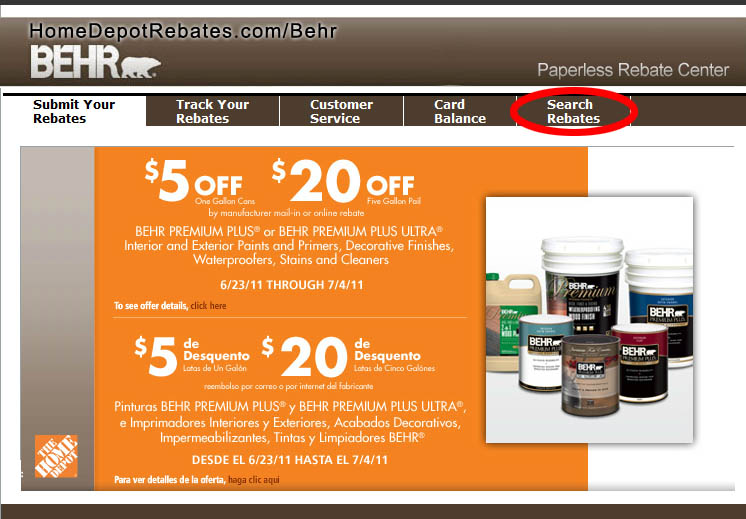 Behr Coupons and rebates- Behr Colors, Behr Interior Paints, Behr ...