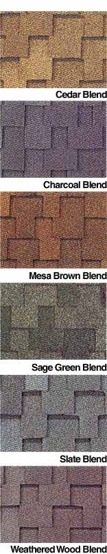 GAF Roof Shingle Colors, Samples, Swatches Roofing Shingles