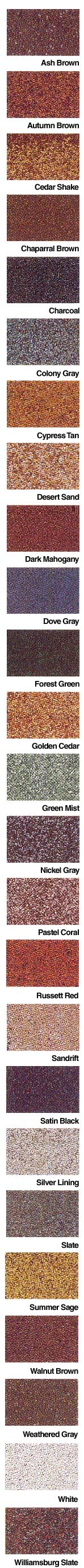 Sentinel Gaf Shingle Colors Samples Swatches And