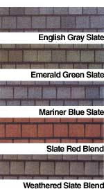 Slateline Gaf Shingle Colors Samples Swatches And